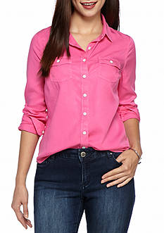 crown & ivy™ Petite Size Colored Shirt