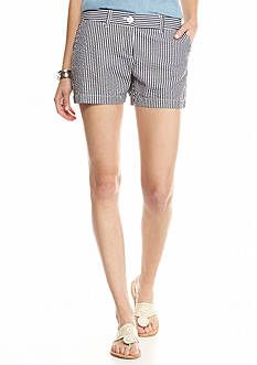 crown & ivy™ Petite Seersucker Striped Shorts