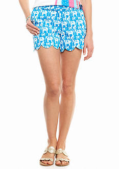 crown & ivy™ Petite Woven Links Scallop Shorts