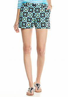 crown & ivy™ Petite Tile Impact Printed Shorts