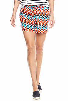 crown & ivy™ Petite Southern Tribal Soft Shorts