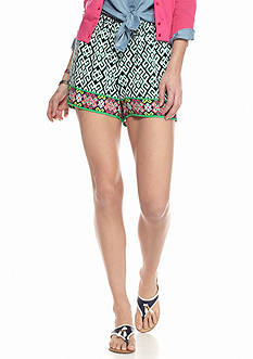crown & ivy™ Petite Lola Lattice Soft Shorts