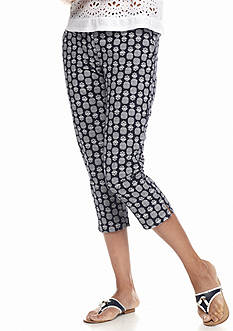 crown & ivy™ Petite Pineapple Pop Capri Pant