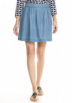 crown & ivy™ Petite Chambray Skirt