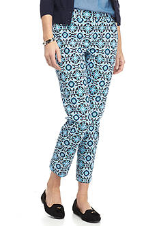 crown & ivy™ Petite Size Printed Bi-Stretch Pants