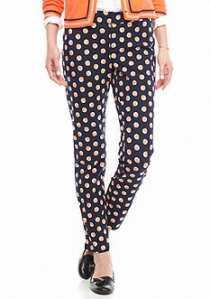crown & ivy™ Petite Size Printed Fly Front Bi-Stretch Pant