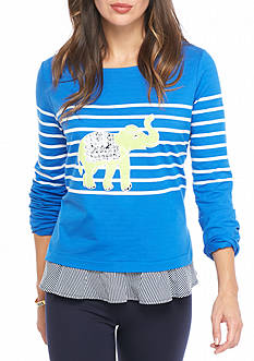 Crown & Ivy™ Petite 2Fer Graphic Sweatshirt