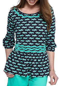 Crown & Ivy™ Petite Size Knit Peasant Top