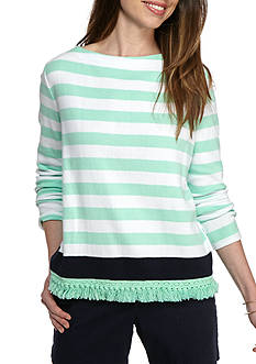 Crown & Ivy™ Petite Stripe Sweatshirt