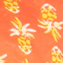 Shop By Brand: Crown & Ivy™ Beach: Orange/Yellow/White crown & ivy™ beach Petite Smock Neck Printed Top