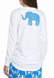 crown & ivy™ Petite Size Elephant Sweeper Sweatshirt