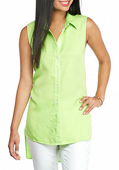 Crown & Ivy™ Petite Sleeveless Shirt