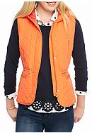 Crown & Ivy™ Petite Size Hooded Quilted Vest