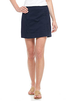 Crown & Ivy™ Petite Solid Scalloped Skort
