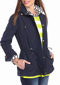 crown & ivy™ Petite Size Solid Anorak Jacket