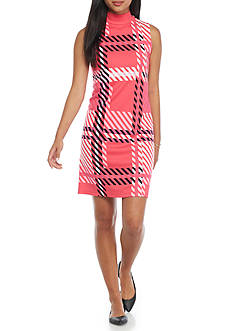 crown & ivy™ Petite Printed Shift Dress
