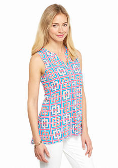 crown & ivy™ Petite Printed Sleeveless Top
