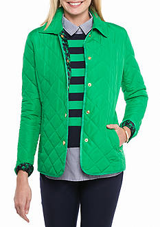 crown & ivy™ Petite Size Quilted Barn Jacket