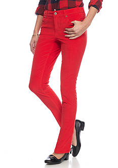 crown & ivy™ Petite Skinny Leg Cord Pants