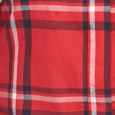Petite Blouses: Red/Navy crown & ivy™ Petite Pretty Plaid Top