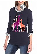 crown & ivy™ Petite Size Giraffe Crossing