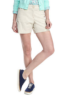 Crown & Ivy™ Petite Solid 5-in. Shorts