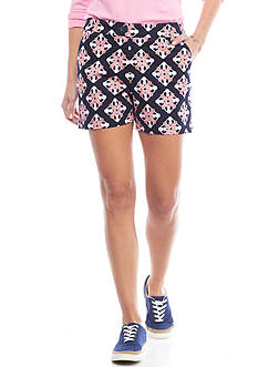 Crown & Ivy™ Petite Pineapple Print Shorts