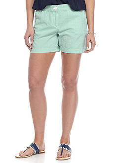 Crown & Ivy™ Petite Seersucker Stripe Shorts