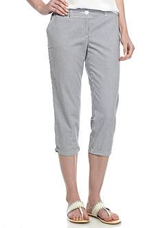 Crown & Ivy™ Casual Crop Seersucker Pant
