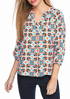 Crown & Ivy™ Petite Three-Quarter Sleeve Blouse
