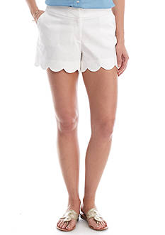 Crown & Ivy™ Petite Solid Scallop Short