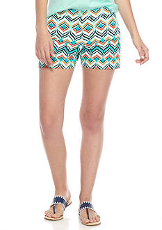 Crown & Ivy™ Petite 5 Inch Printed Shorts