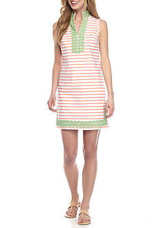 Crown & Ivy™ Petite Woven Stripe Dress