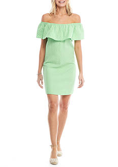 Crown & Ivy™ Petite Over the Shoulder Woven Dress