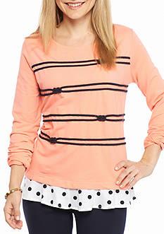 Crown & Ivy™ Petite Size Graphic Sweatshirt
