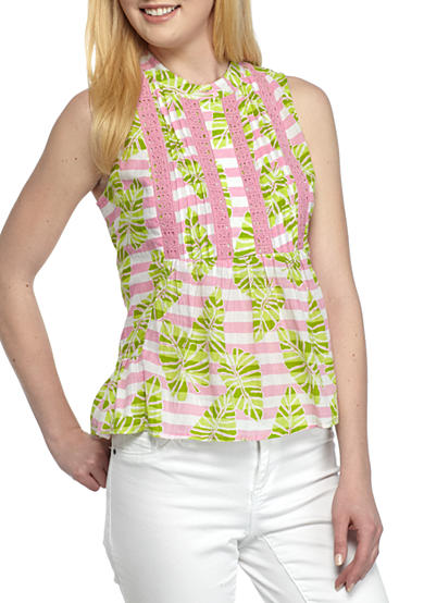 Crown & Ivy™ Petite Woven Print Top