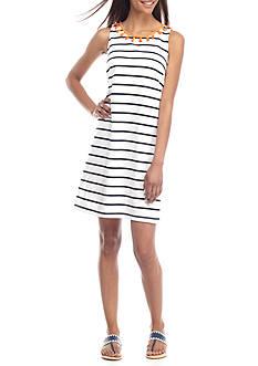 Crown & Ivy™ Petite Stripe Knit Dress