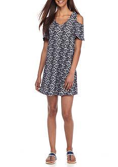 Crown & Ivy™ Petite Cold Shoulder Knit Dress