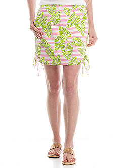 Crown & Ivy™ Petite Print Side Tie Skort