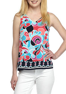 Crown & Ivy™ Petite Print Swing Top