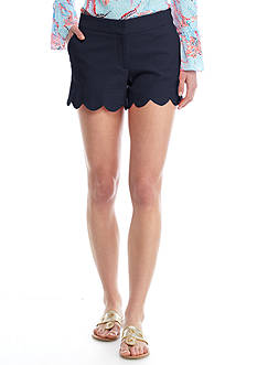 Crown & Ivy™ Petite Jacquard Scallop Shorts
