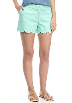 Crown & Ivy™ Petite Jacquard Scallop Shorts