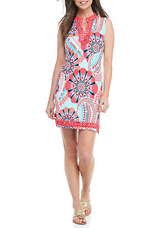 Crown & Ivy™ Petite Print Sleeveless Knit Dress