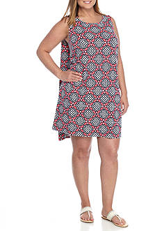 Crown & Ivy™ Plus Size Sleeveless Knit Dress