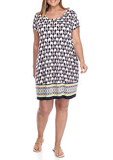 Crown & Ivy™ Plus Size Print Swing Dress