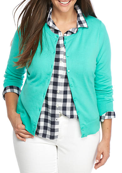 Crown & Ivy™ Plus Size Solid Cardigan