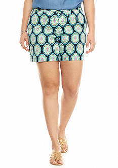 crown & ivy™ Plus Size Medallion Print Shorts
