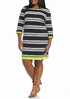 Crown & Ivy™ Plus Size Empire Waist Dress