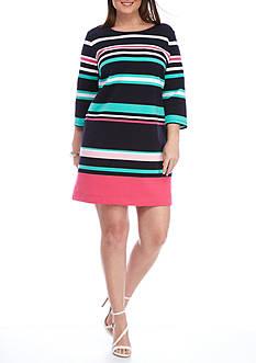 Crown & Ivy™ Plus Size Ribbed Knit Dress