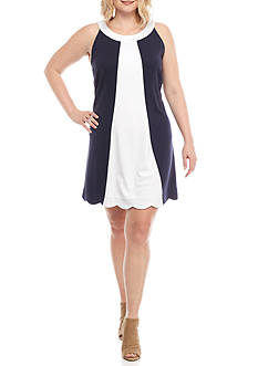 Crown & Ivy™ Plus Size Colorblock Dress
